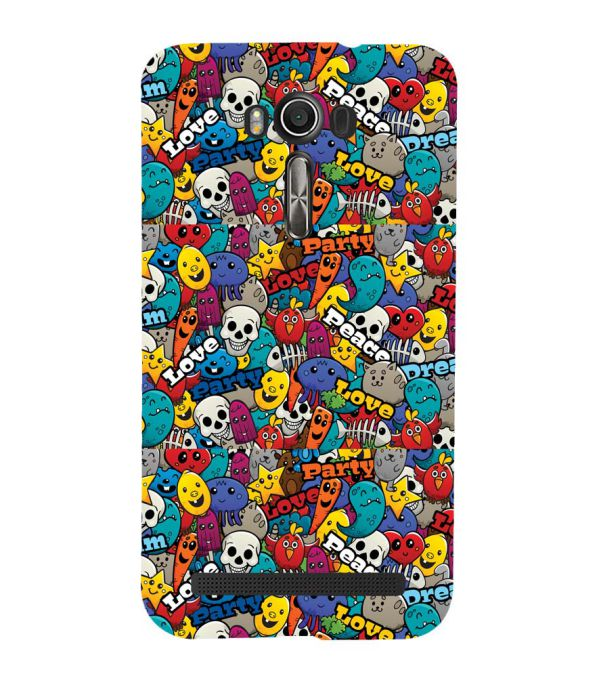 Funny Pattern Back Cover for Asus Zenfone 2 Laser ZE550KL