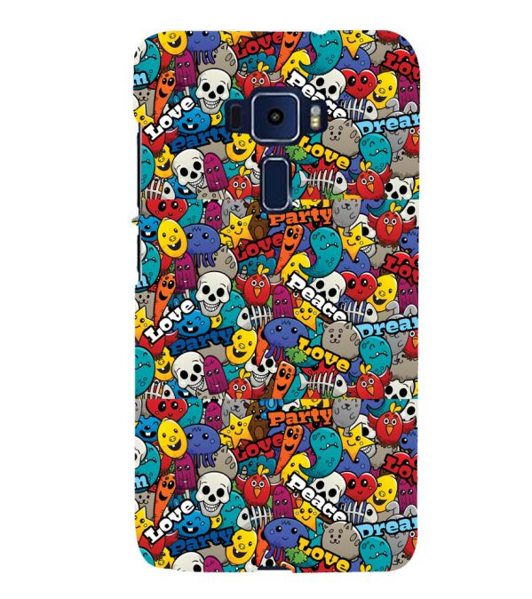 Funny Pattern Back Cover for Asus Zenfone 3 Deluxe ZS570KL