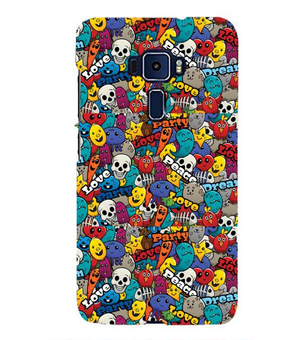 Funny Pattern Back Cover for Asus Zenfone 3 ZE552KL