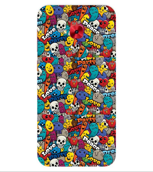 Funny Pattern Back Cover for Asus Zenfone 4 Selfie