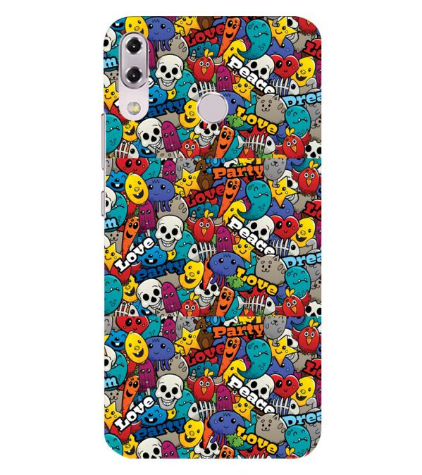 Funny Pattern Back Cover for Asus Zenfone 5z ZS620KL