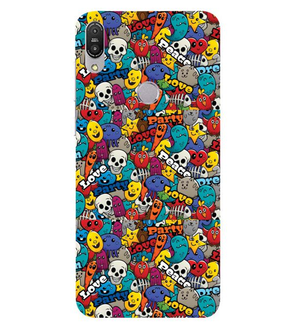 Funny Pattern Back Cover for Asus Zenfone Max Pro M1