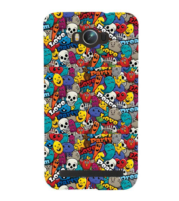 Funny Pattern Back Cover for Asus Zenfone Max ZC550KL