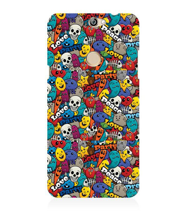 Funny Pattern Back Cover for Coolpad Max