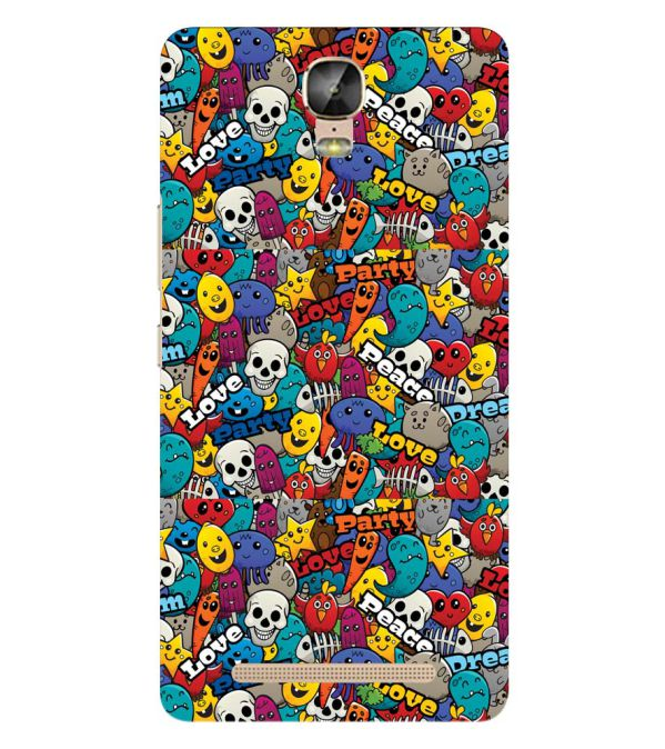 Funny Pattern Back Cover for Gionee Marathon M5 Plus