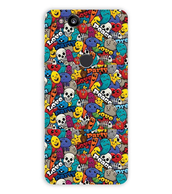 Funny Pattern Back Cover for Google Pixel 2 (5 Inch Screen)