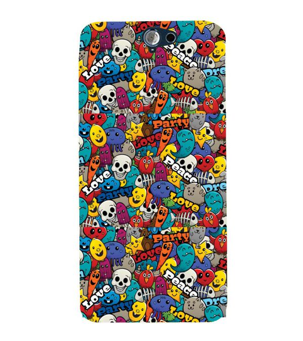 Funny Pattern Back Cover for HTC One A9