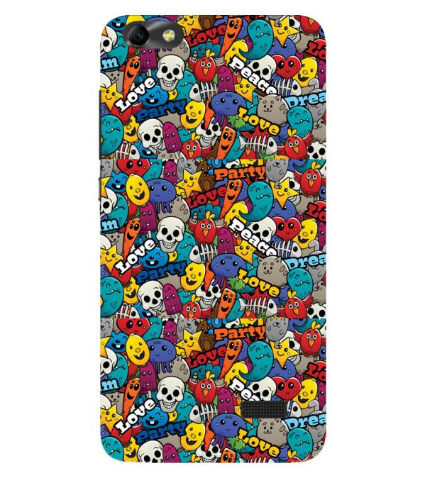 Funny Pattern Back Cover for Huawei Honor 4C