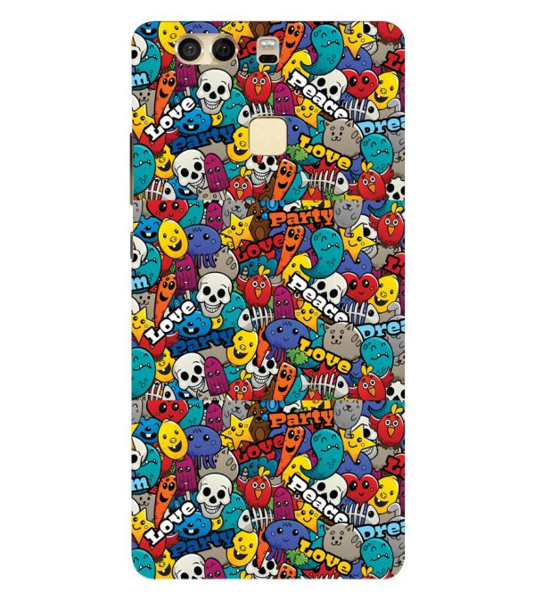 Funny Pattern Back Cover for Huawei P9