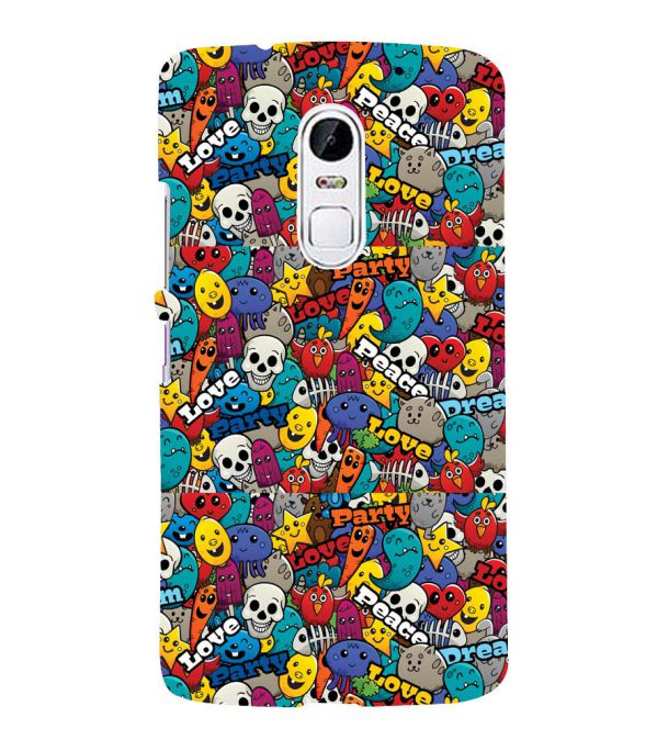 Funny Pattern Back Cover for Lenovo Vibe X3