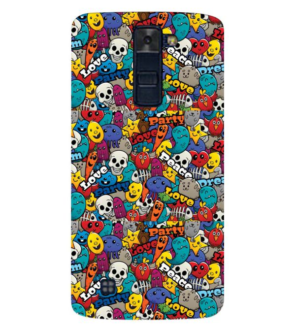 Funny Pattern Back Cover for LG K8