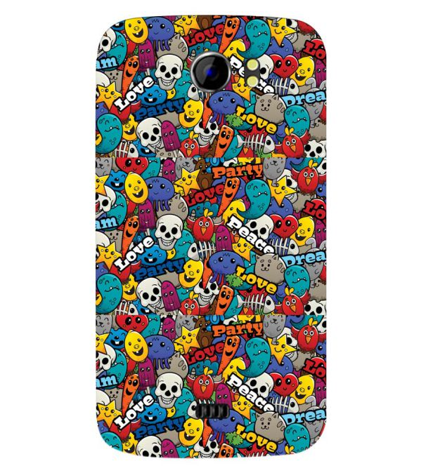 Funny Pattern Back Cover for Micromax A110 Canvas 2