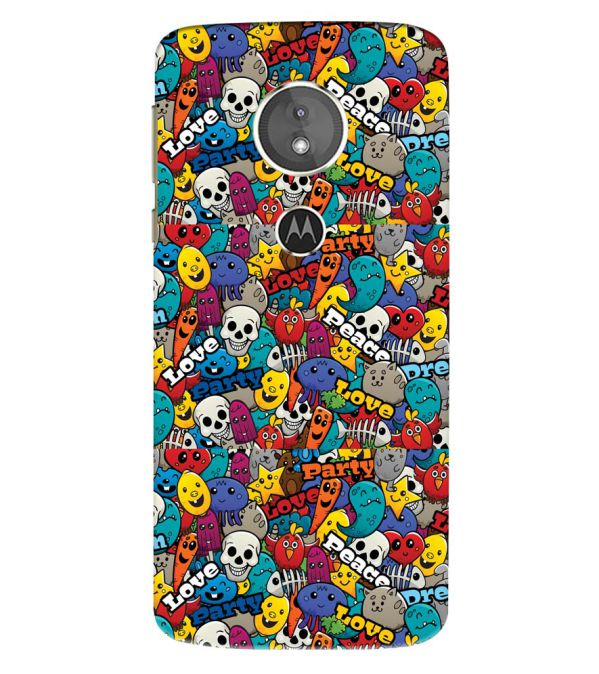 Funny Pattern Back Cover for Motorola Moto E5 Play