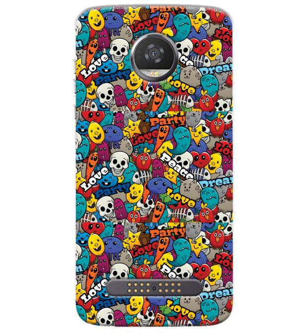 Funny Pattern Back Cover for Motorola Moto Z3 Play