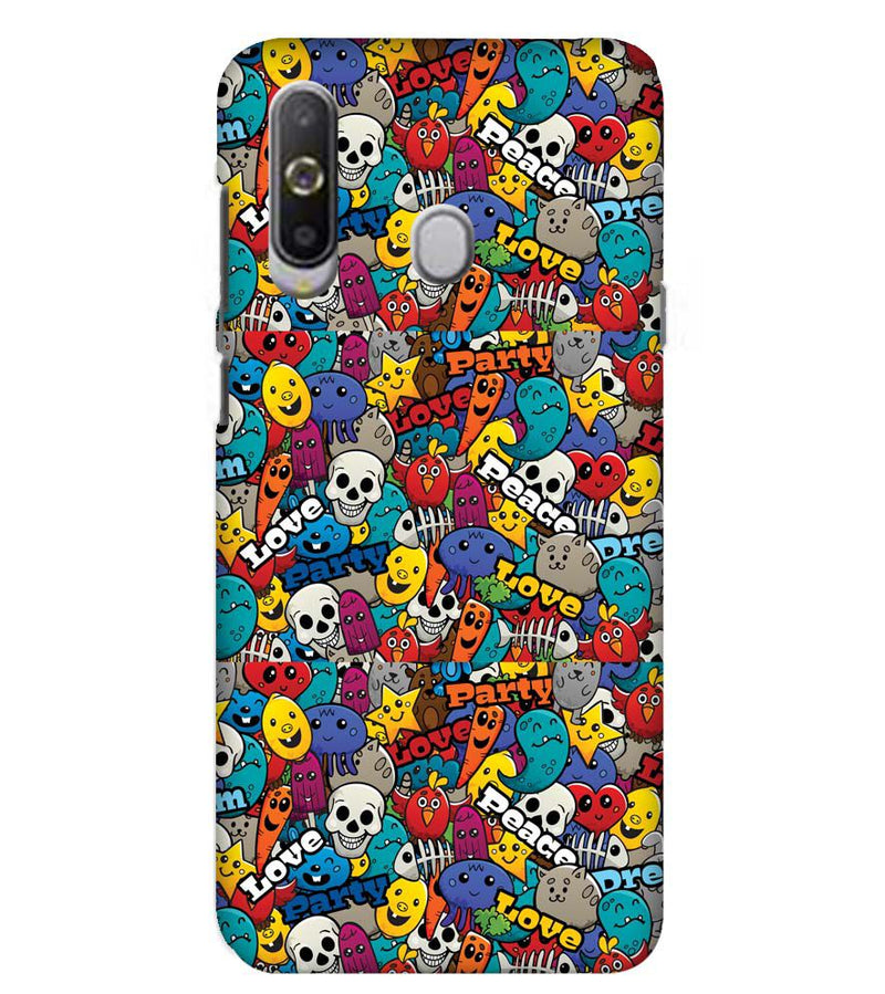 Funny Pattern Back Cover for Samsung Galaxy A8s