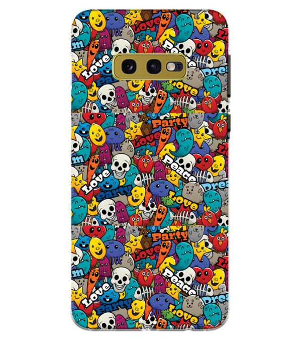 Funny Pattern Back Cover for Samsung Galaxy S10e (5.8 Inch Screen)