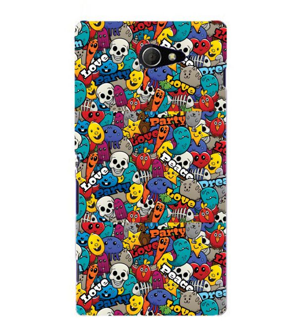 Funny Pattern Back Cover for Sony Xperia M2