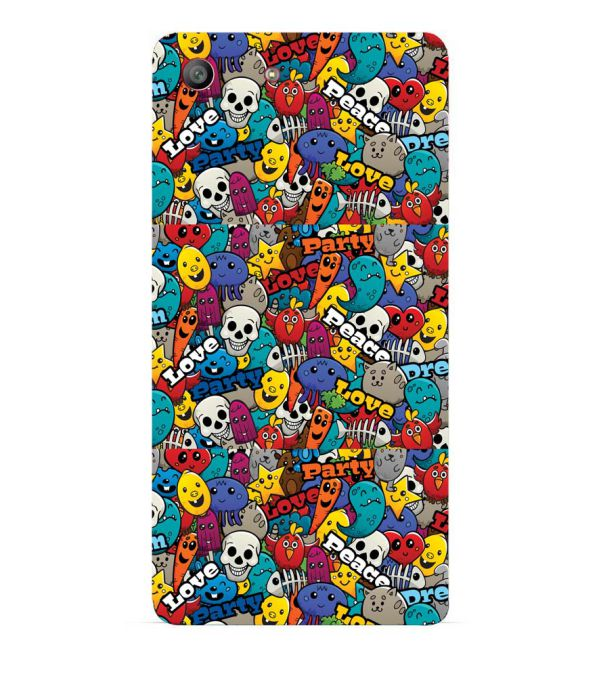 Funny Pattern Back Cover for Sony Xperia M5