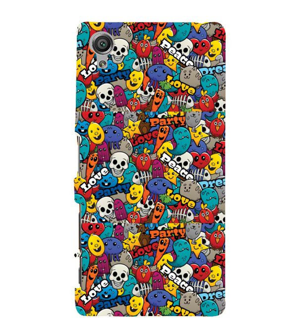 Funny Pattern Back Cover for Sony Xperia X