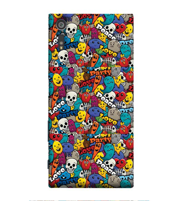 Funny Pattern Back Cover for Sony Xperia XR