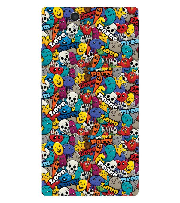Funny Pattern Back Cover for Sony Xperia Z
