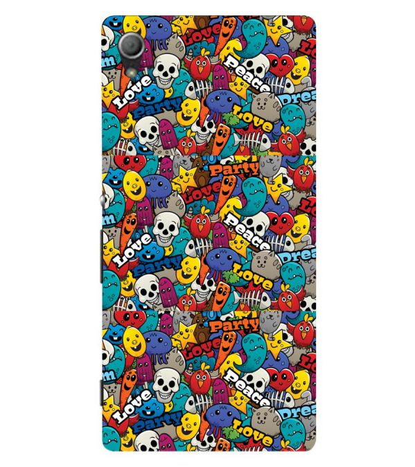 Funny Pattern Back Cover for Sony Xperia Z3+ and Xperia Z4