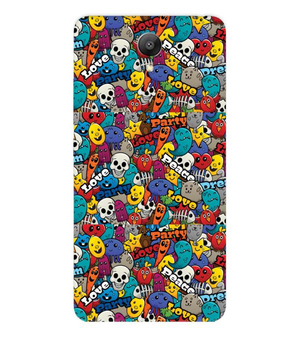 Funny Pattern Back Cover for Xiaomi Redmi Note 2