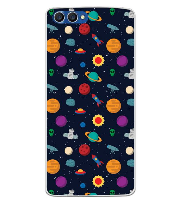 Galaxy Pattern Back Cover for Homtom H3-Image3