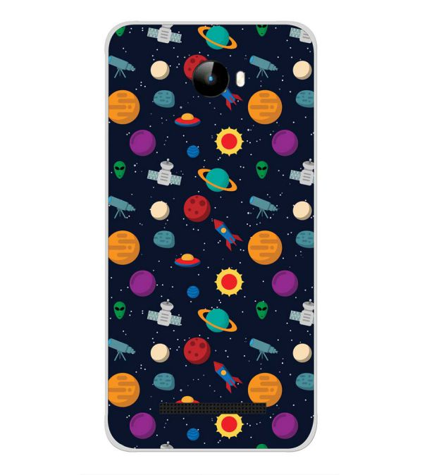 Galaxy Pattern Back Cover for Intex Staari 11-Image3