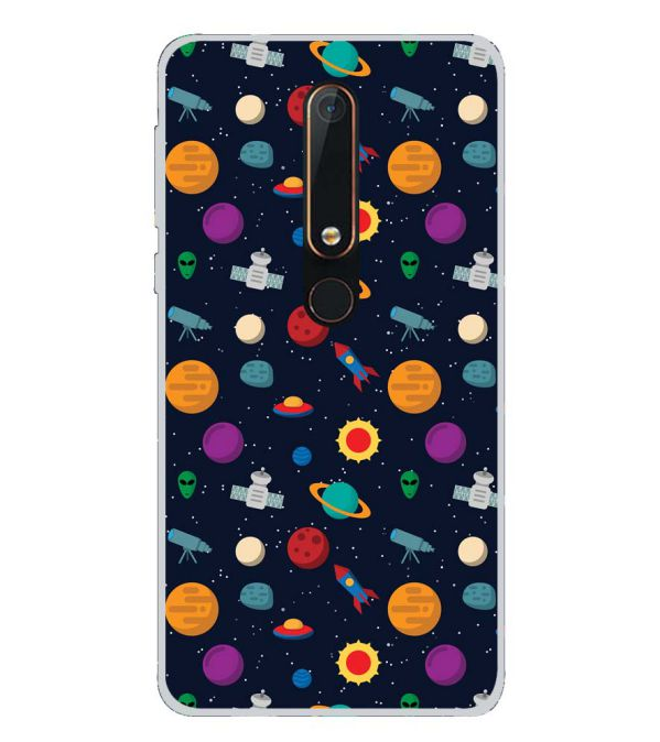Galaxy Pattern Back Cover for Nokia 6.1 (2018)-Image3