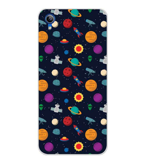 Galaxy Pattern Back Cover for Vivo Y91i-Image3