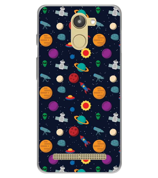 Galaxy Pattern Soft Silicone Back Cover for 10.or D (Tenor D)
