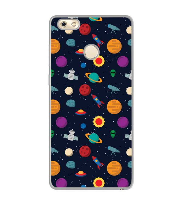 Galaxy Pattern Soft Silicone Back Cover for Gionee M7 Power