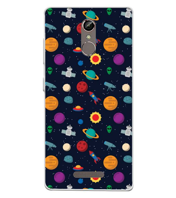 Galaxy Pattern Soft Silicone Back Cover for Gionee S6s