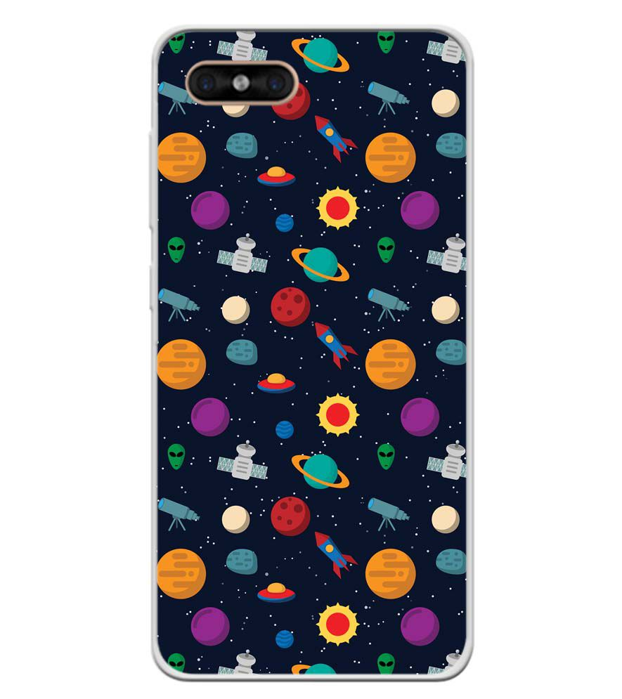 Galaxy Pattern Soft Silicone Back Cover for Gome C7
