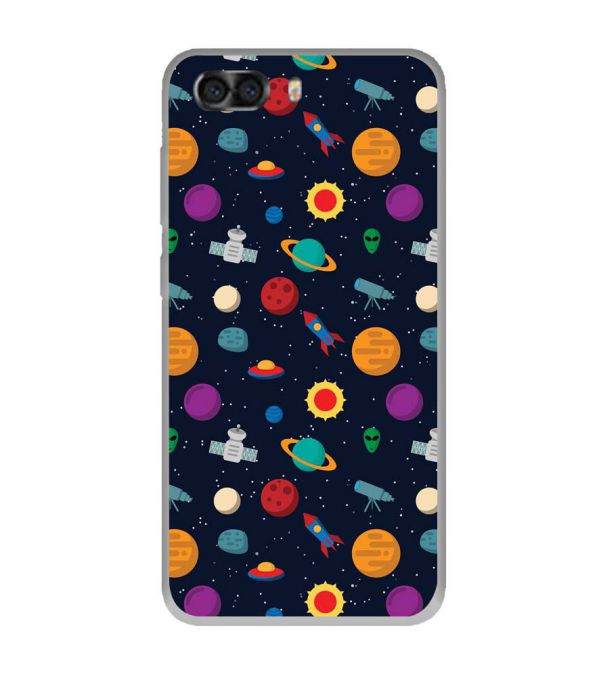 Galaxy Pattern Soft Silicone Back Cover for InFocus Turbo 5 Plus