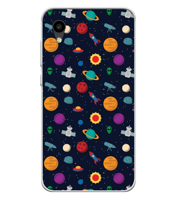 Galaxy Pattern Soft Silicone Back Cover for Intex Aqua 4G Mini