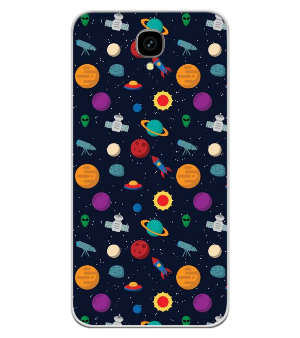 Galaxy Pattern Soft Silicone Back Cover for Intex Aqua Lions T1 Lite