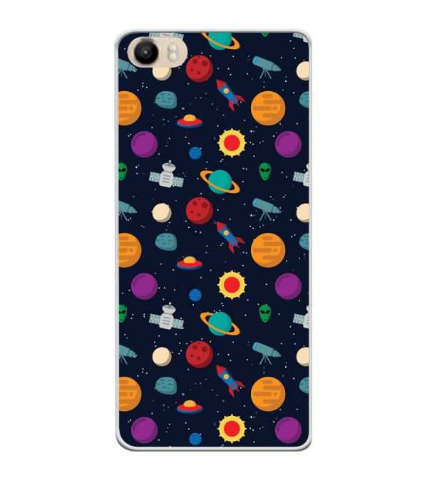 Galaxy Pattern Soft Silicone Back Cover for Itel PowerPro P41