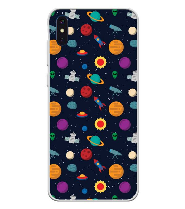 Galaxy Pattern Soft Silicone Back Cover for iVoomi i2