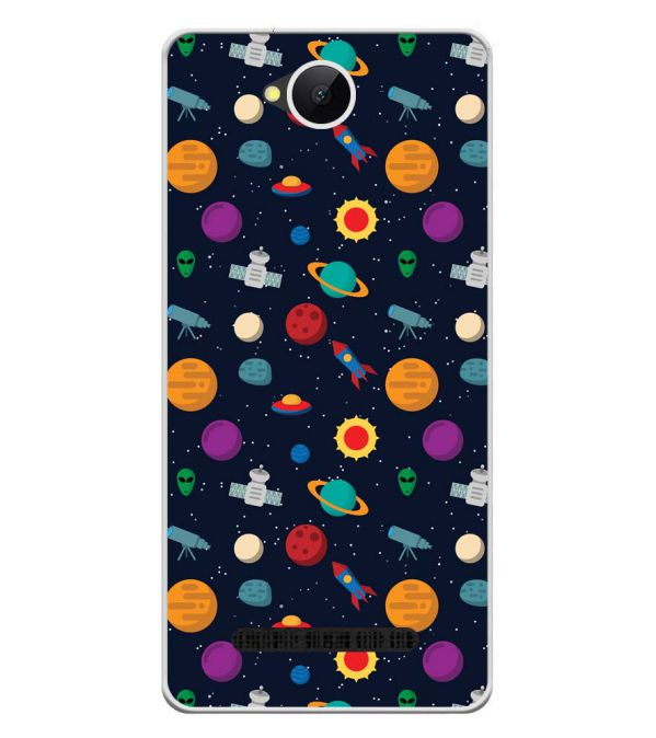 Galaxy Pattern Soft Silicone Back Cover for Karbonn A45 Indian