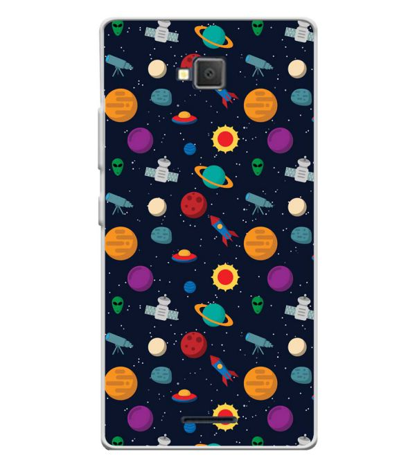 Galaxy Pattern Soft Silicone Back Cover for Lava A82
