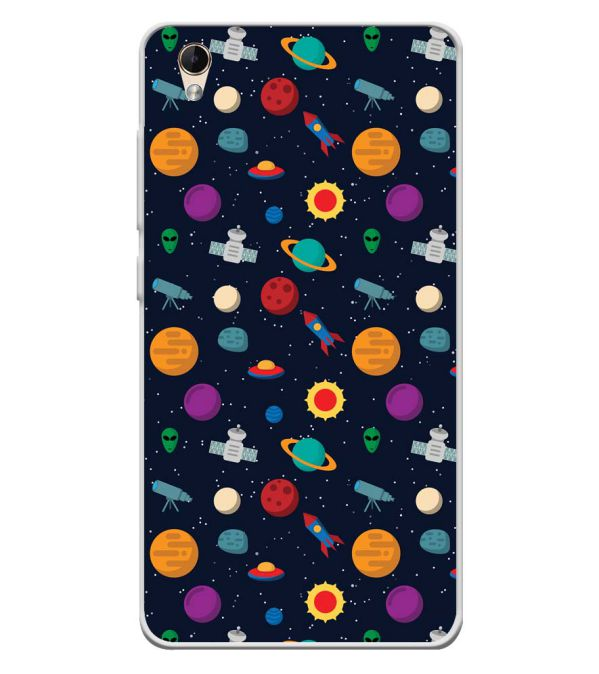 Galaxy Pattern Soft Silicone Back Cover for Lava Z60