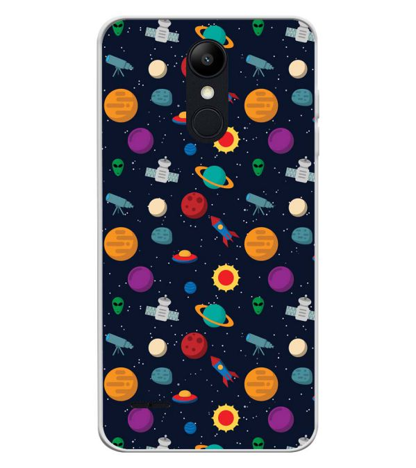 Galaxy Pattern Soft Silicone Back Cover for LG K9