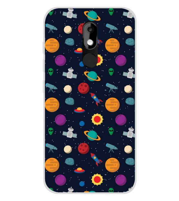 new product f83d0 226b6 Galaxy Pattern Soft Silicone Back Cover for Micromax Canvas Selfie 3 E460