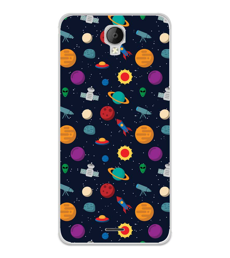 Galaxy Pattern Soft Silicone Back Cover for Micromax Spark Go