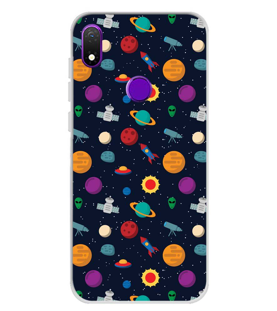 Galaxy Pattern Soft Silicone Back Cover for Mobiistar X1 Notch