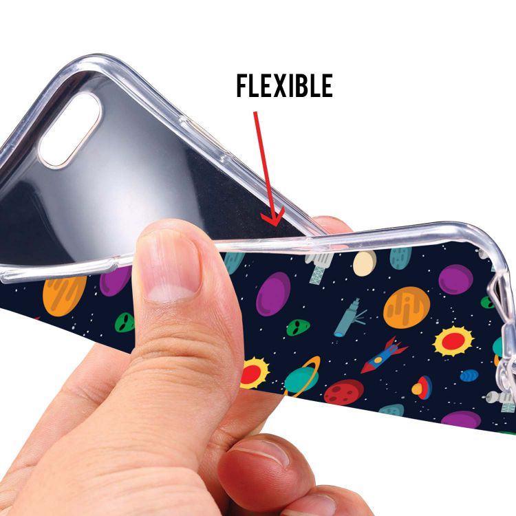 Galaxy Pattern Soft Silicone Back Cover for Mobistar C1