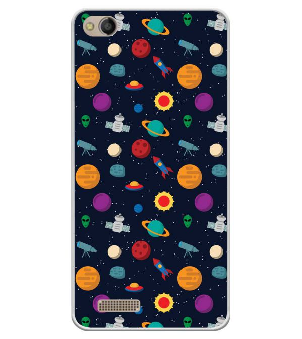 Galaxy Pattern Soft Silicone Back Cover for Mobistar CQ Dual