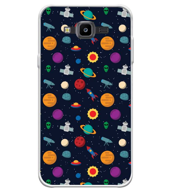 Galaxy Pattern Soft Silicone Back Cover for Samsung Galaxy J7 Nxt